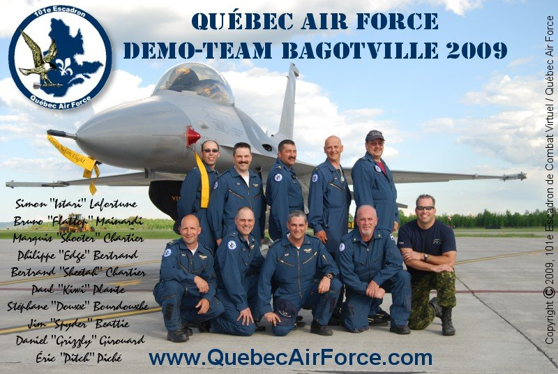 Quebec Air Force DEMO TEAM - BAGOTVILLE 2009