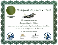 Certificat officiel du 101e Escadron